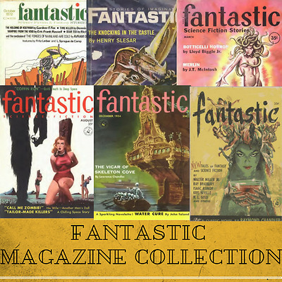 Fantastic Science Fiction Magazines ~ 176 SF Pulp Magazines Collection Data-DVD