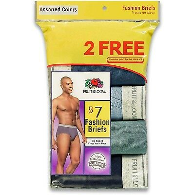 Fruit of the Loom Men's Briefs 7-Pack Fashion Briefs S-XL