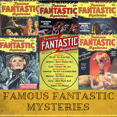 Famous Fantastic Mysteries - 82 SF Pulp Fiction Magazines Collection Data-DVD