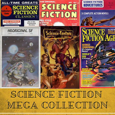Classic Science Fiction Mega Collection - 303 SF Pulp Magazines  on Data-DVD