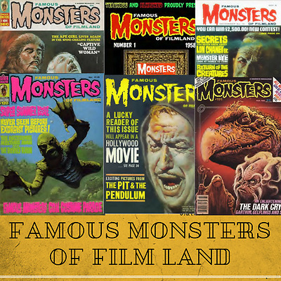 Famous Monsters of Filmland Magazine Collection - 174 Rare Issues on 1 Data-DVD