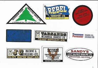 Lot Of Vintage Oil Field & Related Stickers Very Old
