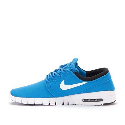 Men's Nike Stefan Janoski Max NEW Skateboarding Shoes - Blue/White/Black