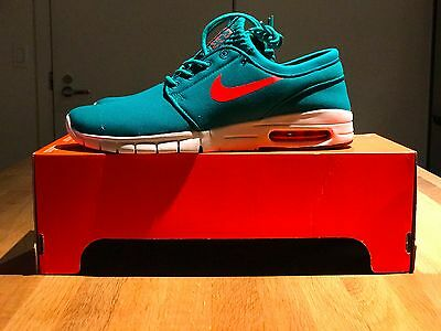 Men's Nike Stefan Janoski Max NEW Skateboarding Shoes - Rio Teal/White - Size 9