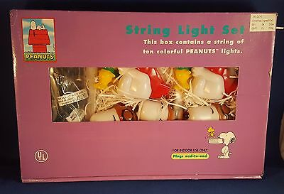 Peanuts Snoopy Woodstock Flying Ace Christmas String Light Set New in Box
