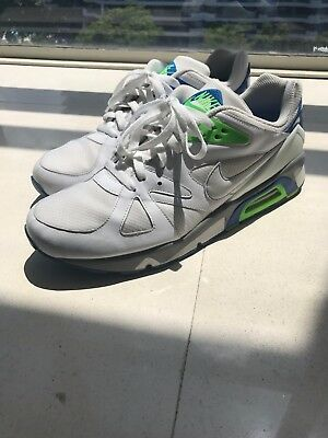 reputable site 9fcb8 7c6e8 NIKE AIR STRUCTURE TRIAX US 12 white grey blue green
