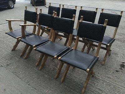 Wooden dining chairs (8) Rustic Vintage