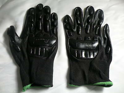 Superior Safety Gloves Nitrile Coated Palms & Rubber Back Guards ( Runs Large)