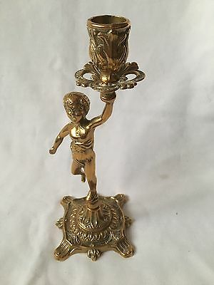 Solid Brass Statue Candlestick