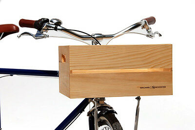 Bergmark Woodster Wooden Bicycle Crate (Front) with Installation Kit