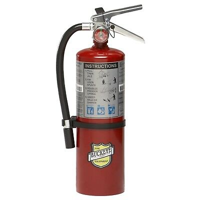 Buckeye 10914 ABC Multipurpose Dry Chemical Fire Extinguisher & Wall Hook