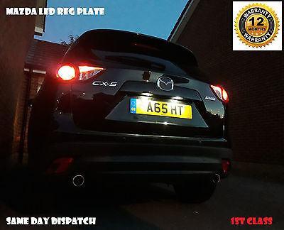 Mazda 2 3 6 Cx3 Cx5 Mx5 Led Bulbs Number License Reg Plate 501 T10 W5W Long Life