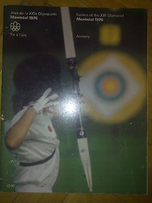 Programme Olympic Games Montreal 1976 ARCHERY