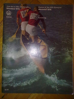 Programme Olympic Games Montreal 1976 CANOEING