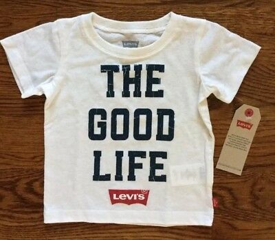 NWT LEVIS BOYS SIZE 18M white short sleeve t-shirt -The Good Life