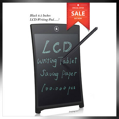 "8.5"" inch LCD E Writing Tablet Writing Drawing Memo Message Black Writing Board"