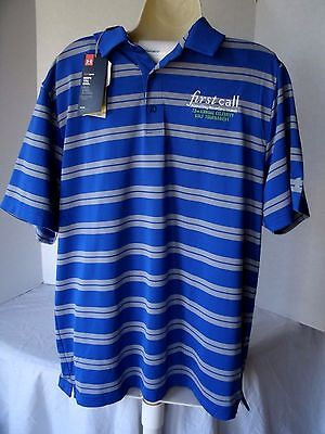 UNDER ARMOUR HEATGEAR Loose Fit Polo Tournament Golf Shirt Men's Size L NEW NWT