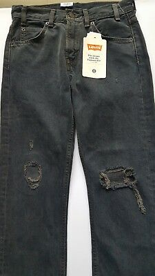 ff476b4b793 Free People LEVI'S 505c CROPPED JEANS 25 Gray Fray SUMMER OF LOVE High  Waist NWT