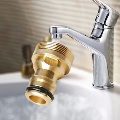 """New 3/4""""Threaded Garden Home  Hose Pipe Water Connector Tube Tap Adaptor Fitting"""