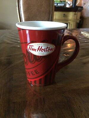 Tim Hortons 2008 Limited Edition Red Stripe Logo Coffee Mug