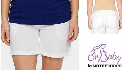 New OH BABY MATERNITY Cuffed Shorts XL 16-18 MOTHERHOOD Secret Belly Bottoms $40