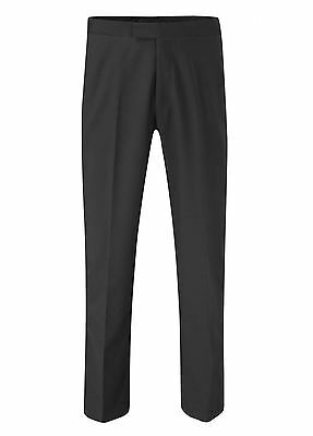 SKOPES Mens Extra Tall Black Dinner Trousers (Harewood)