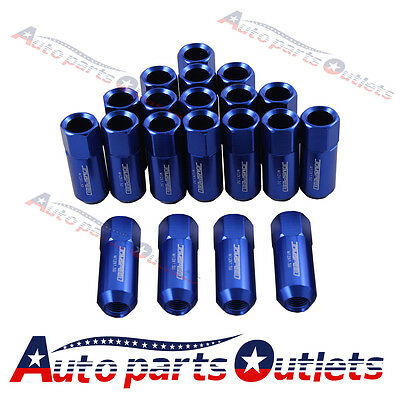 60Mm Blue Aluminum Extended Jdmspeed 20Pc Tuner Lug Nuts For Wheel  M12X1.5