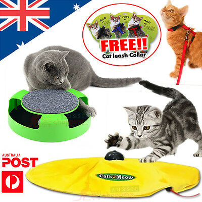 Electronic Interactive Meow Cat Toy Fabric Moving Mouse