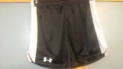 Under Armour Men's Loose Fit Athletic Shorts Black And Gray Size Small