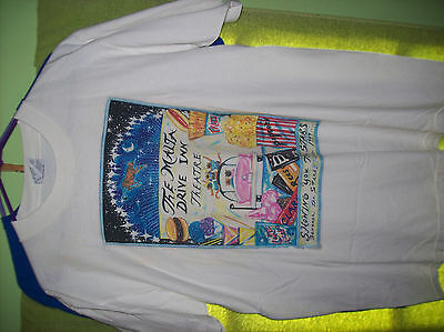 MALTA DRIVE IN Large White T SHIRT Upstate New York Classic Vintage NY Theater