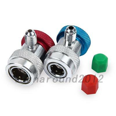 Useful R134a Quick Couplers Adapter A/C Air Condition High Low Gas Connector