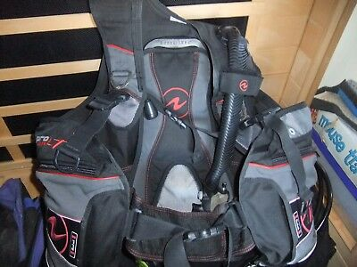 AQUALUNG LT PRO scuba dive diving BC BCD MENS LARGE surelock integrated pouches