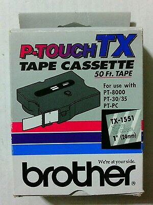 Genuine Brother P-touch TX Tape Cartridge for PT-8000, PT-30/35,PT-PC~ TX-1551