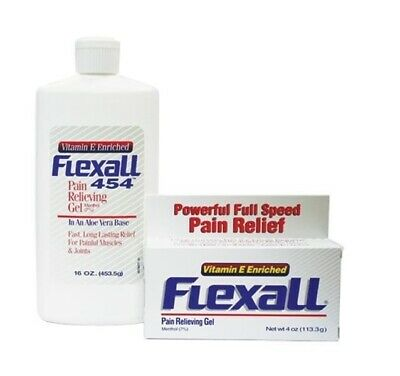 Flexall 454 Pain Relieving Gel - Joints Muscles Sprains Arthritis Pain Relief