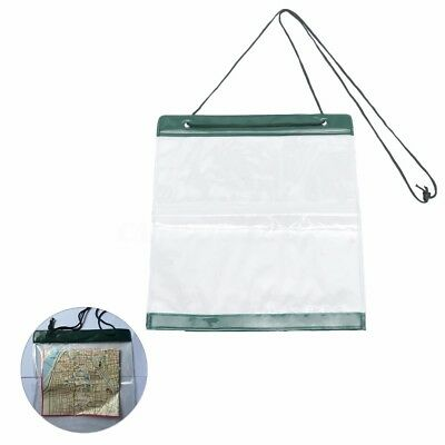 PVC Clear Transparent Waterproof Map Document Storage Case Holder Pouch Camping