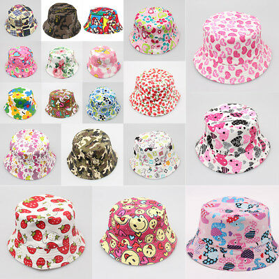 For 1-3 Years Baby Children Sun Hat Summer Beach Kids Flower Pots Canvas Cap