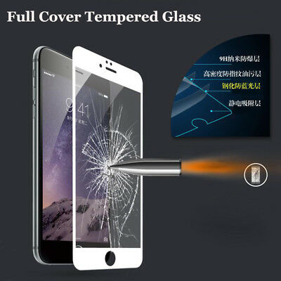 Full Cover Tempered Glass For iPhone 8 7 6 6s Plus 5 5s SE Explosion Proof Film