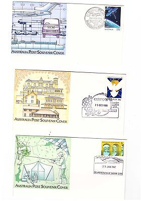 Australia 1978/87 Group of NSW / Victoria Special Cancel Covers  ( 6 items )