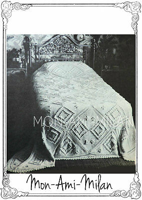Vintage 1970s Knitting Pattern • BOBBLE TEXTURE BEDCOVER BEDSPREAD • BED THROW