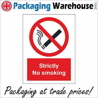 Strictly No Smoking Safety Sticker Rigid Ns011 Indoor Outdoor Sign