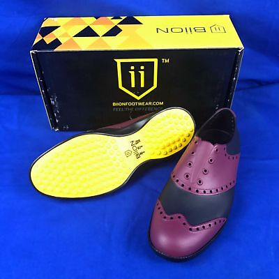 BIION Golf shoese Wingtips purple black 1022 FEEL THE DIFFERENCE