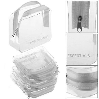 New 10PCS HOLIDAY AIR TRAVEL TOILETRIES BAGS - Clear Plastic Airline Airport Bag