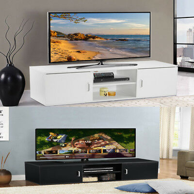 Modern TV Stand Cabinet Unit Furniture Matt Room Large Home Storage with Shelf