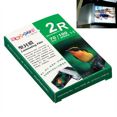 100 X 70Mic 2R Laminate Film 66x96mm Laminating Pouch Glossy Protect Photo Paper