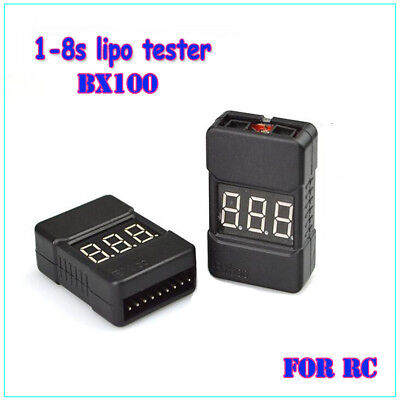 RC BX100 1-8S Low Voltage Buzzer Lipo Battery Tester Checker with Dual Speak Hot