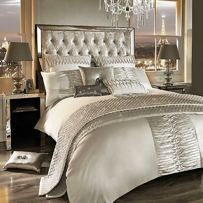 Kylie Minogue Bedding ATMOSPHERE Ivory - Oyster Duvet / Quilt, Cushion or Throw