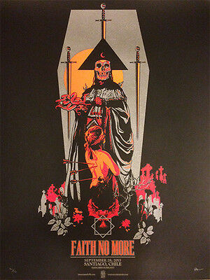 FAITH NO MORE poster Santiago 2015 by Vance Kelly