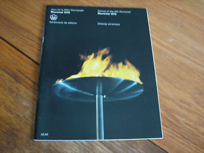 Programme Olympic Games Montreal 1976 CLOSING CEREMONY
