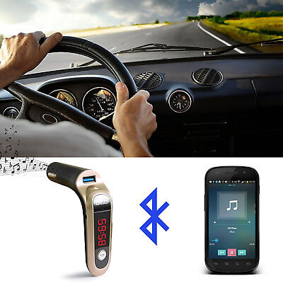 G6 CAR Wireless Fm Transmitter Bluetooth Hands Free Car Kit With Micro Card