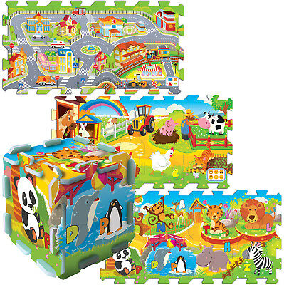 Trefl Large 8pc Educational 5 in 1 Foam Puzzle Kids City Farm Zoo Fun Jigsaw NEW